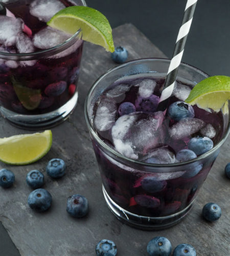 Simple Blueberry Lime Juice