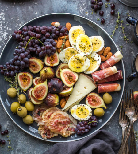 Healthy Plate Cheese & Fruits