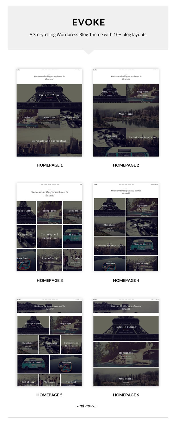 Evoke - Photo Stories WordPress Blog Theme - 1