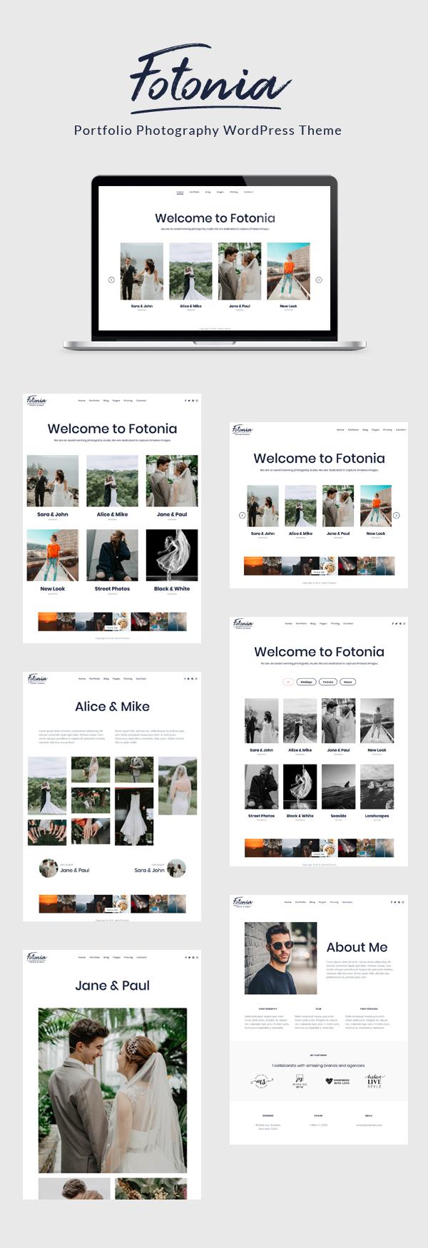 Fotonia - Portfolio Photography Theme for WordPress - 1
