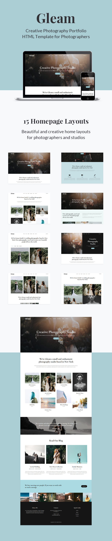 Gleam - Portfolio Photography HTML Template - 2