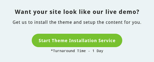 Theme Installation Service