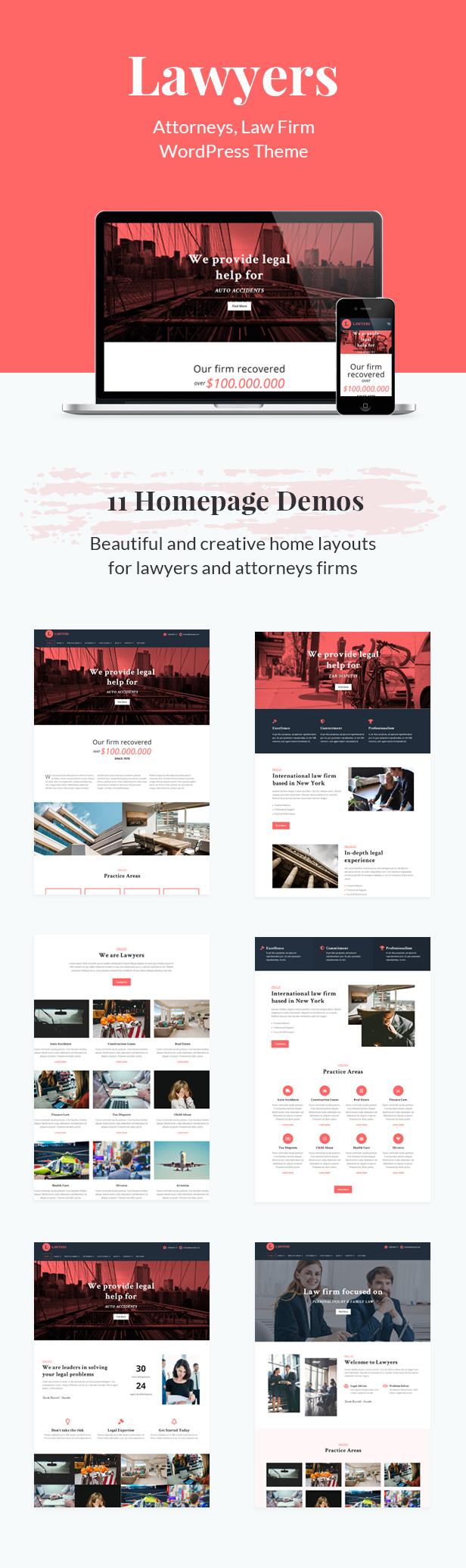 Lawyers - Responsive Business WordPress Theme - 2