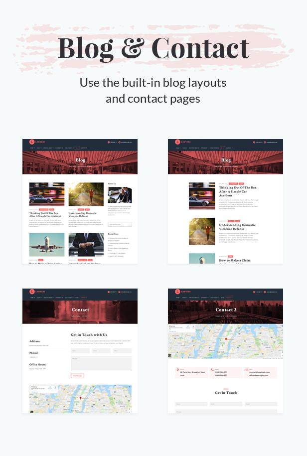 Lawyers - Responsive Business WordPress Theme - 4