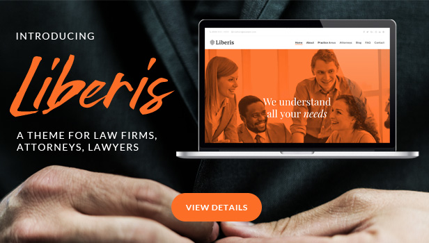 Liberis - Law Firm Attorney WordPress Theme