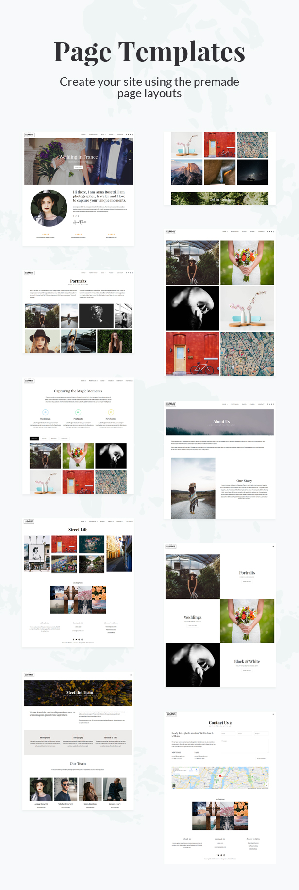 Luminis - Photography WordPress Theme for Wedding, Travel, Event Portfolios - 1