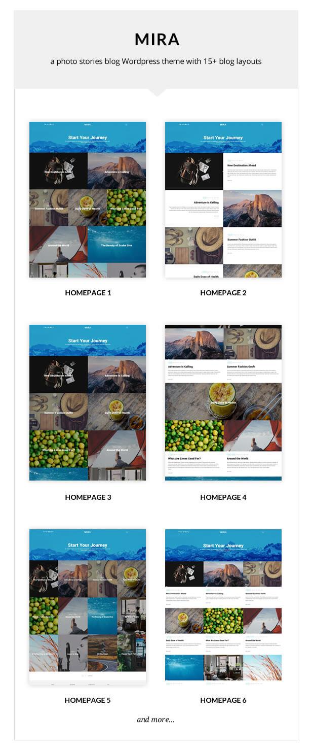 Mira - A Photo Stories Blog WordPress Theme - 2
