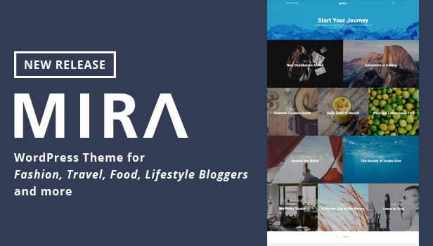 Mira - WordPress theme for Lifestyle, Food, Travel Blogs