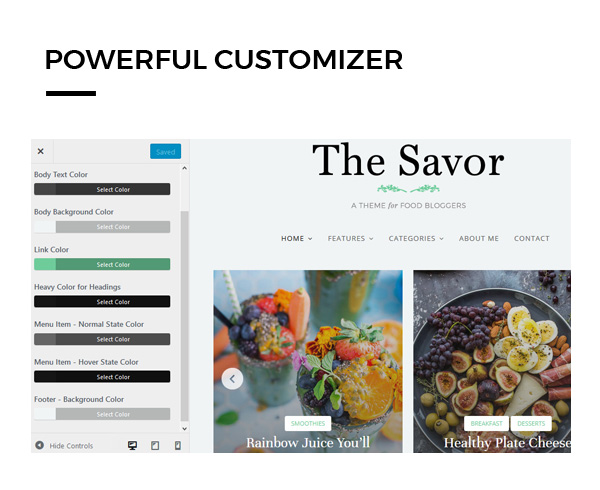 savor-theme-customizer