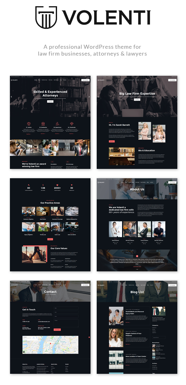 Volenti - Lawyers Elementor WordPress Theme - 1