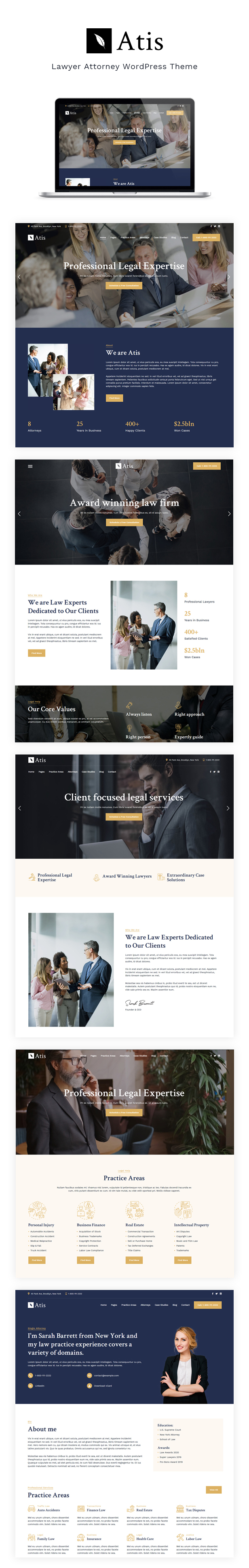 Atis - Lawyers Advisors Business Theme - 1