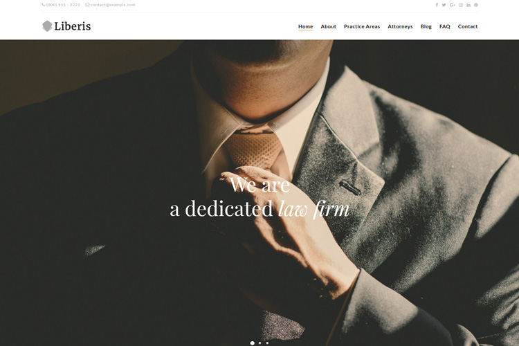 Attorney WordPress theme Liberis