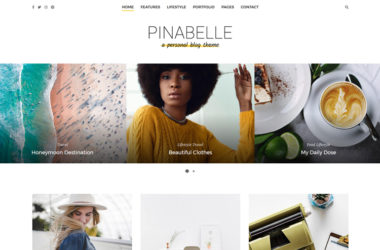 pinabelle personal blog theme WordPress