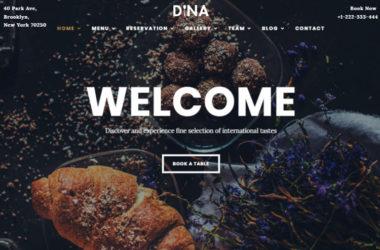 Restaurant Cafe Food WordPress Theme Dina